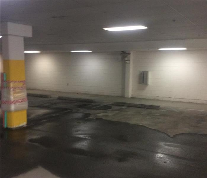 Commercial Garage Flood In Poughkeepsie NY Before